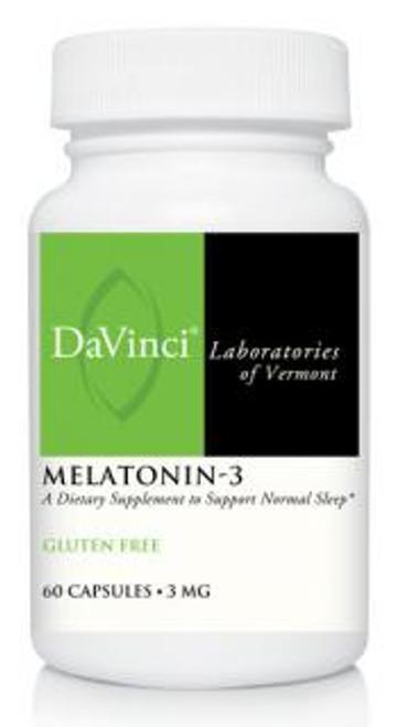 Davinci Labs MELATONIN-3 3 mg 60 capsules