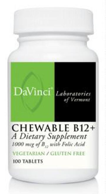 Davinci Labs CHEWABLE B12+ 100 tablets