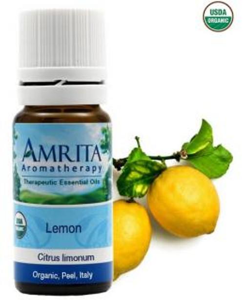 Amrita Aromatherapy Lemon, Yellow (Organic) Essential Oil 10 ml