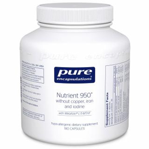 Pure Encapsulations Nutrient 950® w/o Cu, Fe & I 180 vcaps