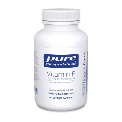 Pure Encapsulations Vitamin E (with mixed tocopherols) 180 capsules