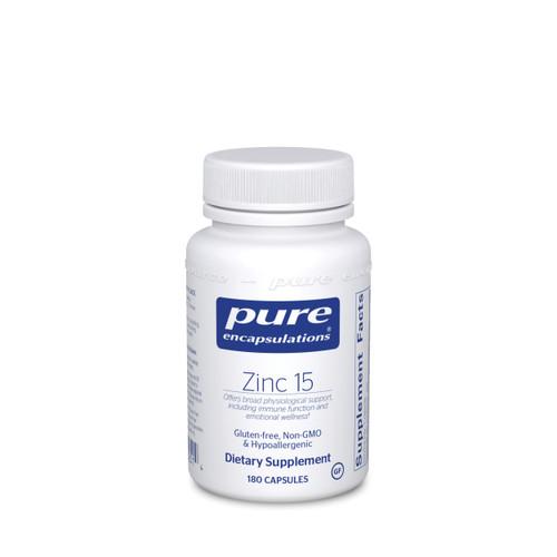 Pure Encapsulations Zinc 15 180 capsules