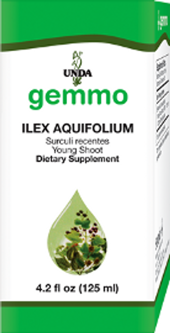 UNDA Gemmotherapy Ilex Aquifolium (English Holly yoing shoot) 4.2 fl oz (125 ml)