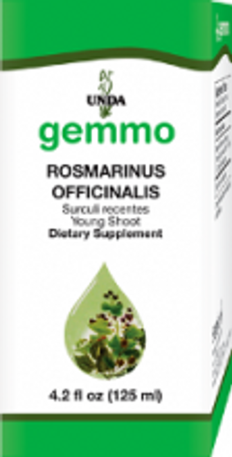 UNDA Gemmotherapy Rosmarinus Officinalis  (Rosemary young shoot) 4.2 fl oz (125 ml)