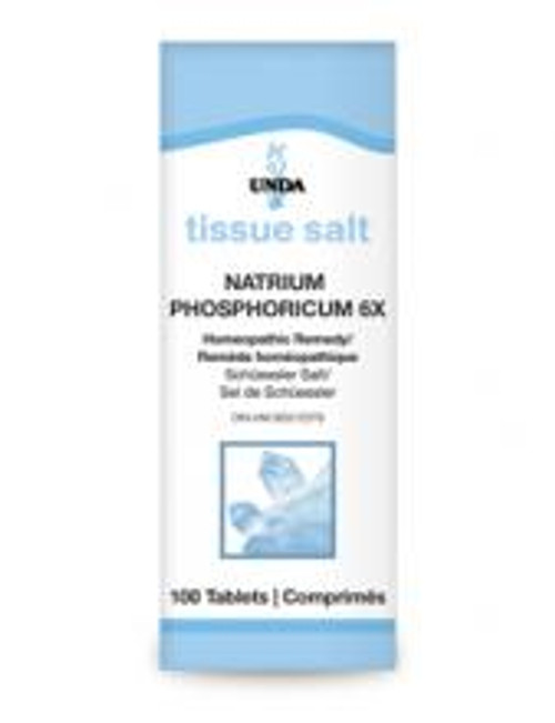 UNDA Schuessler Tissue Salts Natrium Phosphoricum 6X 100 tabs