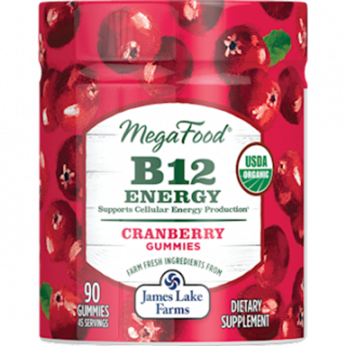 MegaFood B12 Energy Cranberry Gummy 90 count