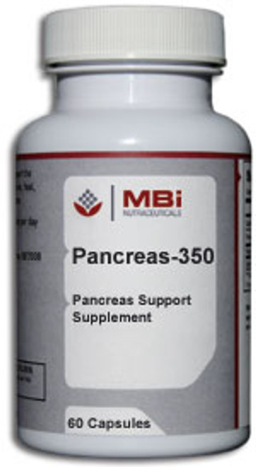 MBi Nutraceuticals Pancreas-350mg Glandular Tissue Concentrate 60 Capsules