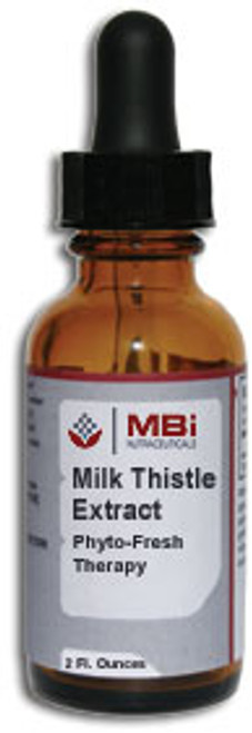 MBi Nutraceuticals Milk Thistle Herbal Extract 2 oz.