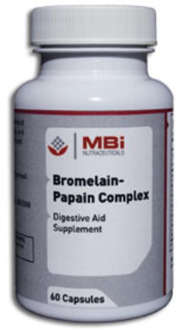 MBi Nutraceuticals Bromelain-Papain Complex 180 Capsules