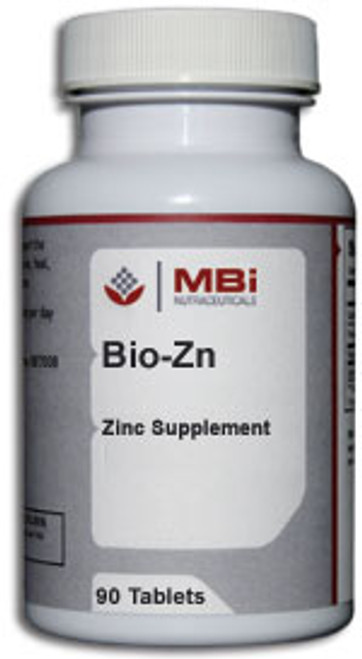 MBi Nutraceuticals Bio-Zn Zinc 30mg 90 Tablets
