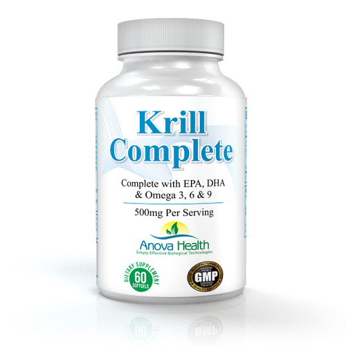 Anova Health Krill Complete 500 mg 60 softgels - 6 bottle pack