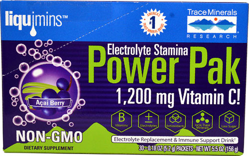Trace Minerals Electrolyte Stamina Power Pak Acai Berry 30 Packets