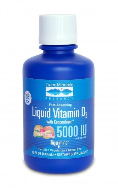 Trace Minerals Liquid Vitamin D3 16 oz.