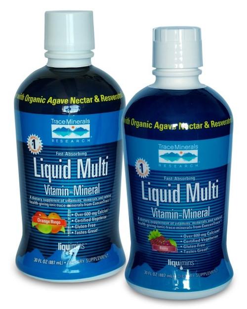 Trace Minerals Liquid Multi Vitamin-Mineral Berry 30 oz.