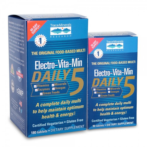 Trace Minerals Electro-Vita-Min Daily 5 90 Tablets