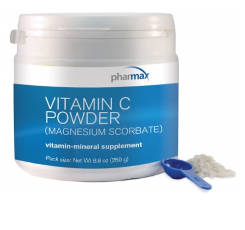 Pharmax Vitamin C Powder (Magnesium Ascorbate) 8.8 oz (250 grams)