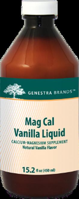Genestra Mag Cal Vanilla Liquid 15.2 fl oz (450 ml)