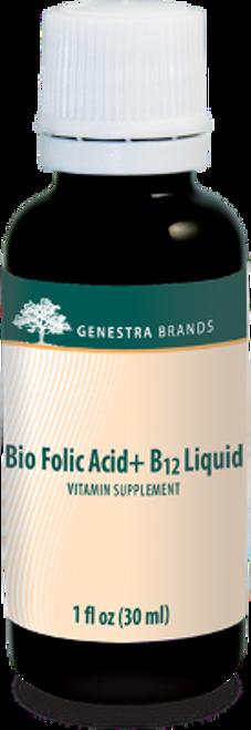 Genestra Bio Folic Acid + B12 Liquid 1 fl oz (30 ml)l