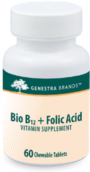 Genestra Bio B12 + Folic Acid 60 Chewable Tablets