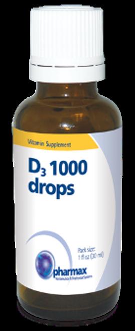 Pharmax D3 1000 Drops 1 fl oz (30 ml)