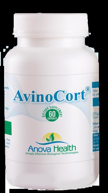 Anova Health AvinoCort 100 mg 60 count - 6 bottle pack