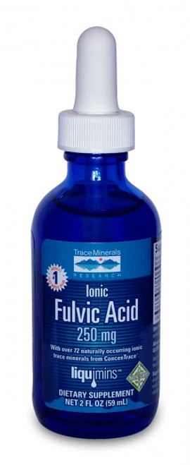 Trace Minerals Liquid Ionic Fulvic Acid with ConcenTrace® 2 oz.