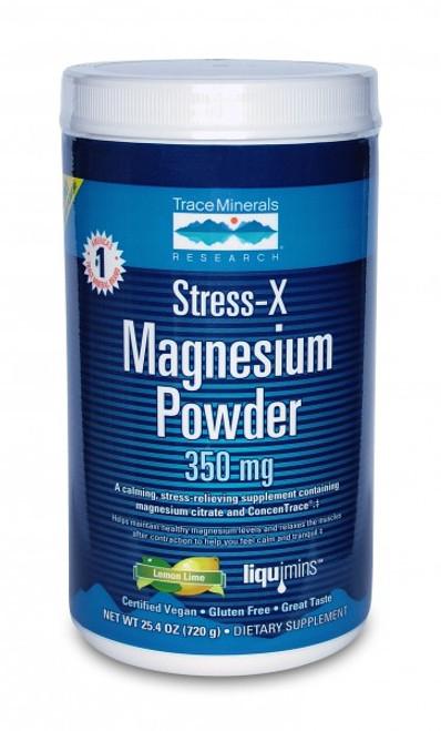 Trace Minerals Magnesium Powder-100 servings (17.6 oz) 500 gms