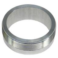 "aluminum threaded weld on collar for 275 aston - monza flip top gas fuel caps 2-3/4"" x 16tpi"