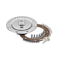 newton equipment cap3l direct mount billet aluminum locking gas tank fill cap