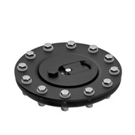 Filler Neck Supply Stocks This Black Billet aircraft style Fuel Cell Filler Cap with 12 hole mounting pattern