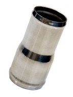 """2"""" to 2-1/4"""" or 51-57mm stainless steel aluminum fuel filler neck water fuel diesel oil Hose Joiner Reducing reducer coupler coupling splice."""