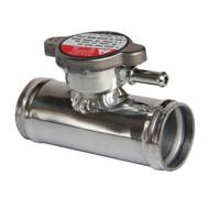 In line Aluminum Radiator hose  Filler Neck inlet splice straight orfice overflow vent tube 5/16