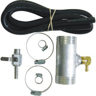 Designed to connect your RDS auxiliary or RDS transfer diesel fuel tank to your truck's fuel fill hose. Automatically controls the fuel level going into your OEM tank.  Works with RDS auxiliary fuel tanks, RDS transfer fuel tanks and RDS fuel tank/toolbox combos. Intended for diesel fuel only.  Works on diesel powered passenger trucks up through 350 or 3500 vehicle (not on diesel commercial/semi-trucks).  Kit includes hoses, clamps and fittings for easy installation.  dee zee, rds manufacturing auxiliary diesel transfer tank filler neck connecter / adapter