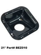 Square Plastic Fuel Filler Neck Protector / Dish / Bezel 21 Degree Housing bez010  FRDF4TZ-9B213-A FRDF4TZ9B213A ford filler neck support bucket knaphiede work truck service body box truck custom