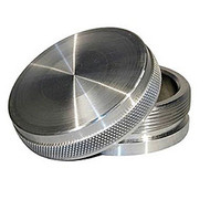 """Meziere PN6500 Aluminum Bung Weld-On Natural Bung and Cap Kit - 2-1/2"""" OD"""