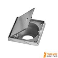 21° Degree Fuel Fill filler neck dish bezel surround Housing With Lockable Hinged Door FG2103-238L