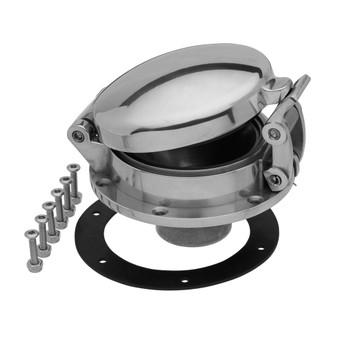 "Speedway Motors Large 4-5//8/"" Polished Aluminum Shelby Cobra Style Gas Fuel Cap"