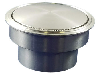 Micro Ribbed Spike Vented Gas Cap With Weld In Bung Black
