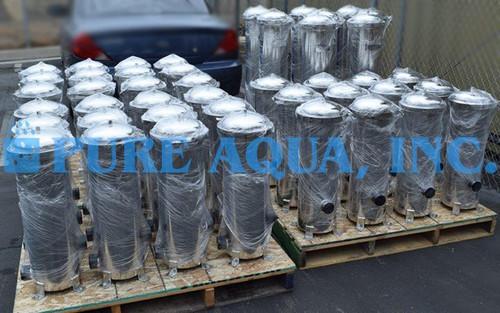 Filtragem por OR com Cartucho de Armazenamento em Aço Inoxidável 10 x 72,000 e 10 x 60,000 GPD - Kuwait