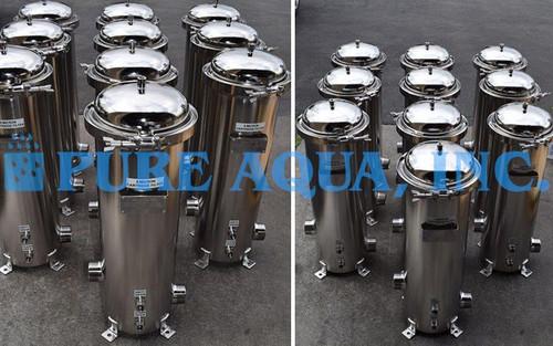 Filtragem por OR com Cartucho de Armazenamento em Aço Inoxidável  10 X 72,000 GPD - Peru