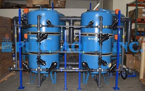 Descalcificador Duplo Alternado de Água 140,000 GPD - Guam