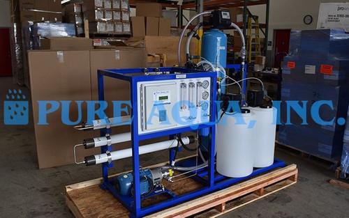 Sistema Piloto de Água Salobra para Redução de Amônio 1,300 GPD - EUA