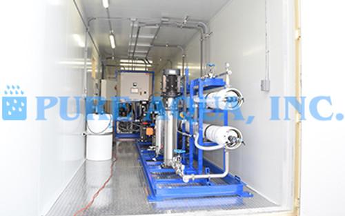 SWRO em Dupla Passagem em Contêiner com Sistema EDI 110 GPM - Turquemenistão