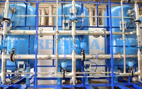 Amaciador de Água Triplo Automático para Beber 400 GPM - EUA