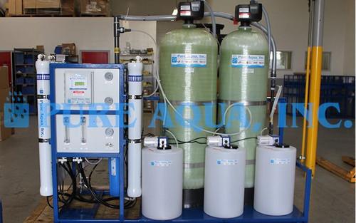 Sistema de Osmose Reversa de Água da Torneira com Suporte Montado 15,000 GPD - Argélia