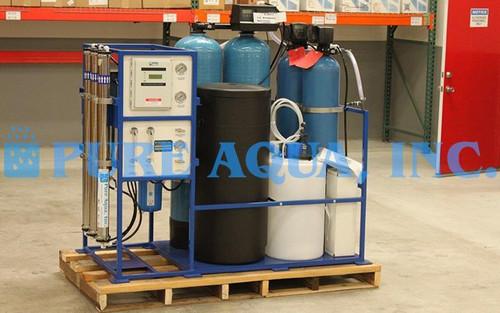 Máquina de Tratamento de Água com Suporte Montado 1,800 GPD - EUA