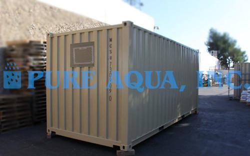 Unidade de Osmose Reversa de Passagem Dupla de Água do Mar em Contêiner 12,000 GPD - Chile