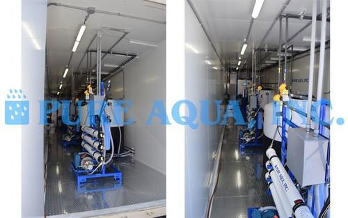 Sistema de Água do Mar em Contêiner com Pré-tratamento de Ultrafiltragem - 10,000 GPD - EUA