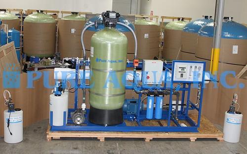 Sistema de Dessalinização de Água com Suporte Montado 12,000 GPD - Indonésia
