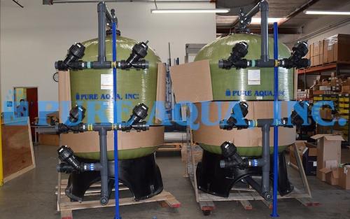 Sistema de Filtração por Carbono Ativado para Redução de COT 2X 216 GPM - Nova Zelândia